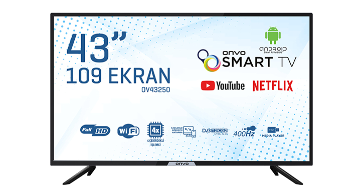 ONVO OV43250 43'' FULL HD ANDROİD SMART LED