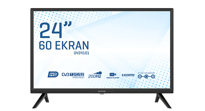 ONVO OV24101 24'' HD READY UYDU ALICILI LED 12 VOLT