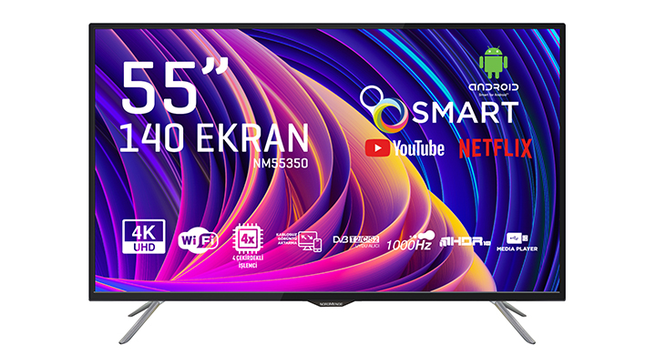 NORDMENDE NM55350 55'' ULTRA HD ANDROID SMART LED