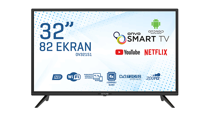 ONVO OV32151  32'' HD READY ANDROİD SMART LED
