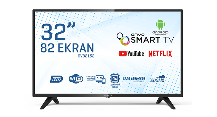ONVO OV32152 32'' HD READY ANDROİD SMART LED