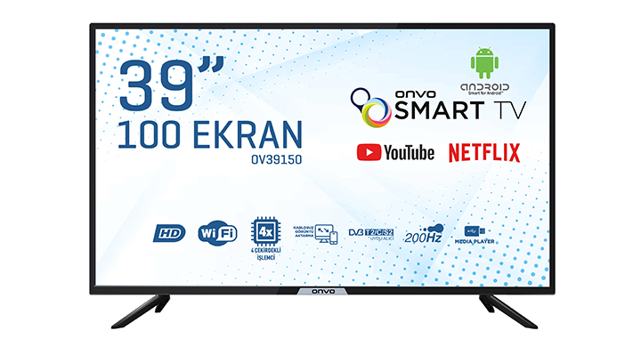 ONVO OV39150 39'' HD READY ANDROİD SMART LED