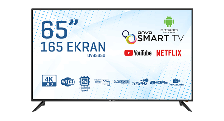 ONVO OV65350 65'' ULTRA HD ANDROİD SMART LED